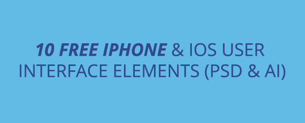 10 Free Iphone And ios Interfaces