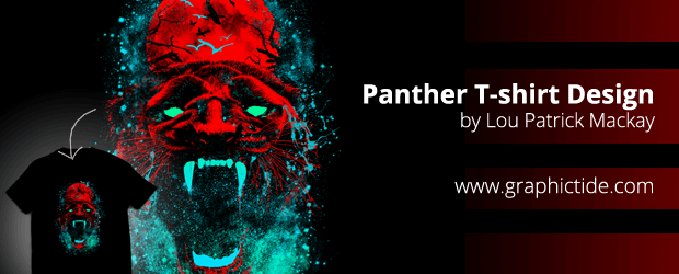 Panther T-shirt Design