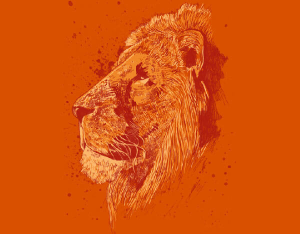 Epic Lion T-shirt Design