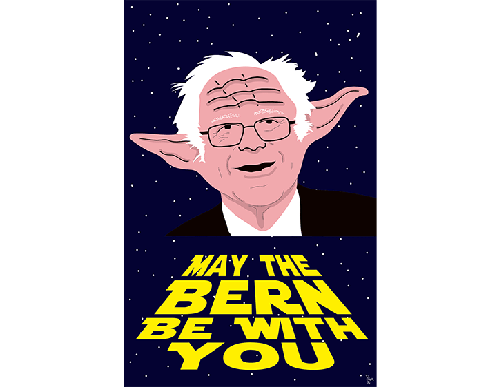 May the Bern Be With You t-shirt