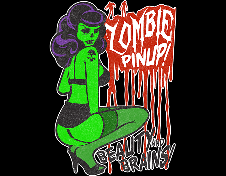 Zombie Pinup t-shirt