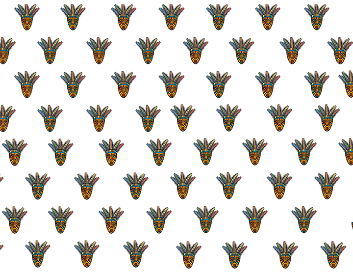 Tribal Mask Pattern
