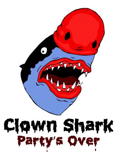 Clown Shark t-shirt
