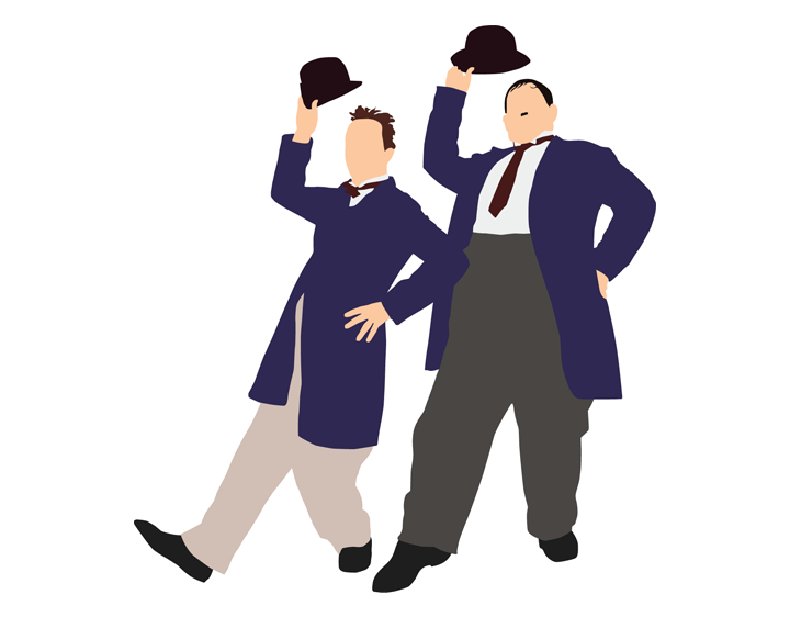 Laurel & Hardy by garethw89