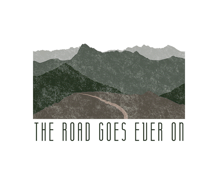 The road goes ever on t-shirt