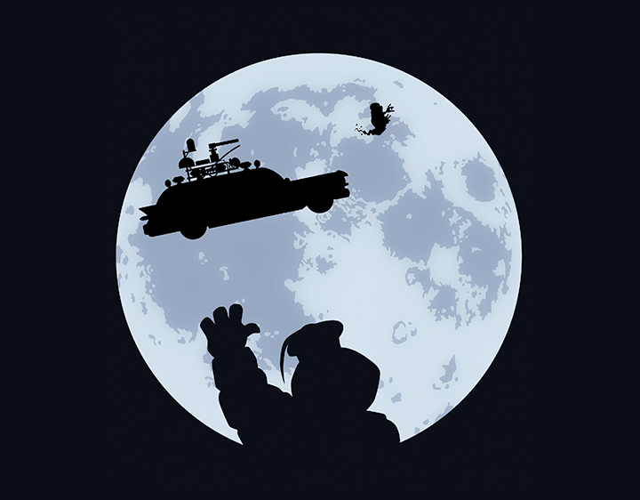Ghost Moon  t-shirt