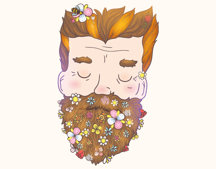 Flower Beard t-shirt