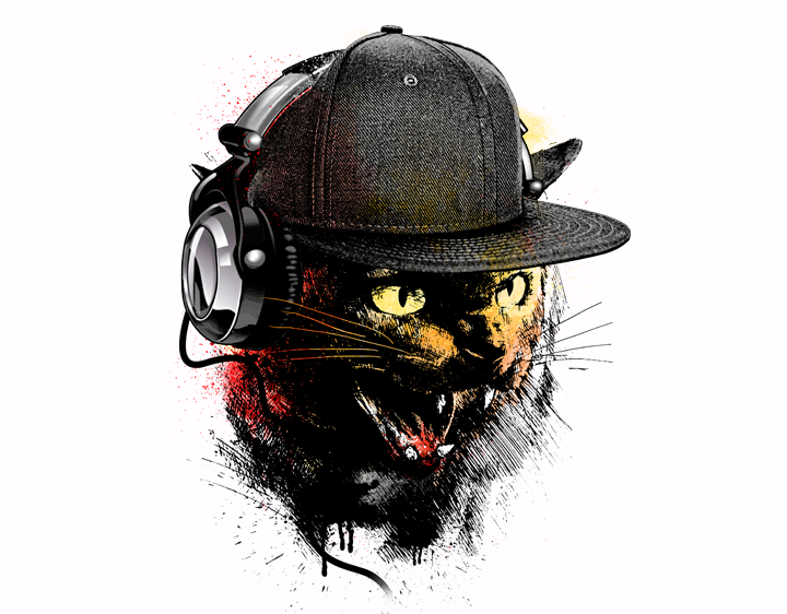 Dj Cat by moncheng