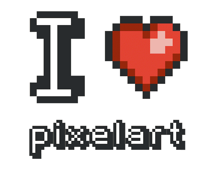 I Love PixelArt t-shirt