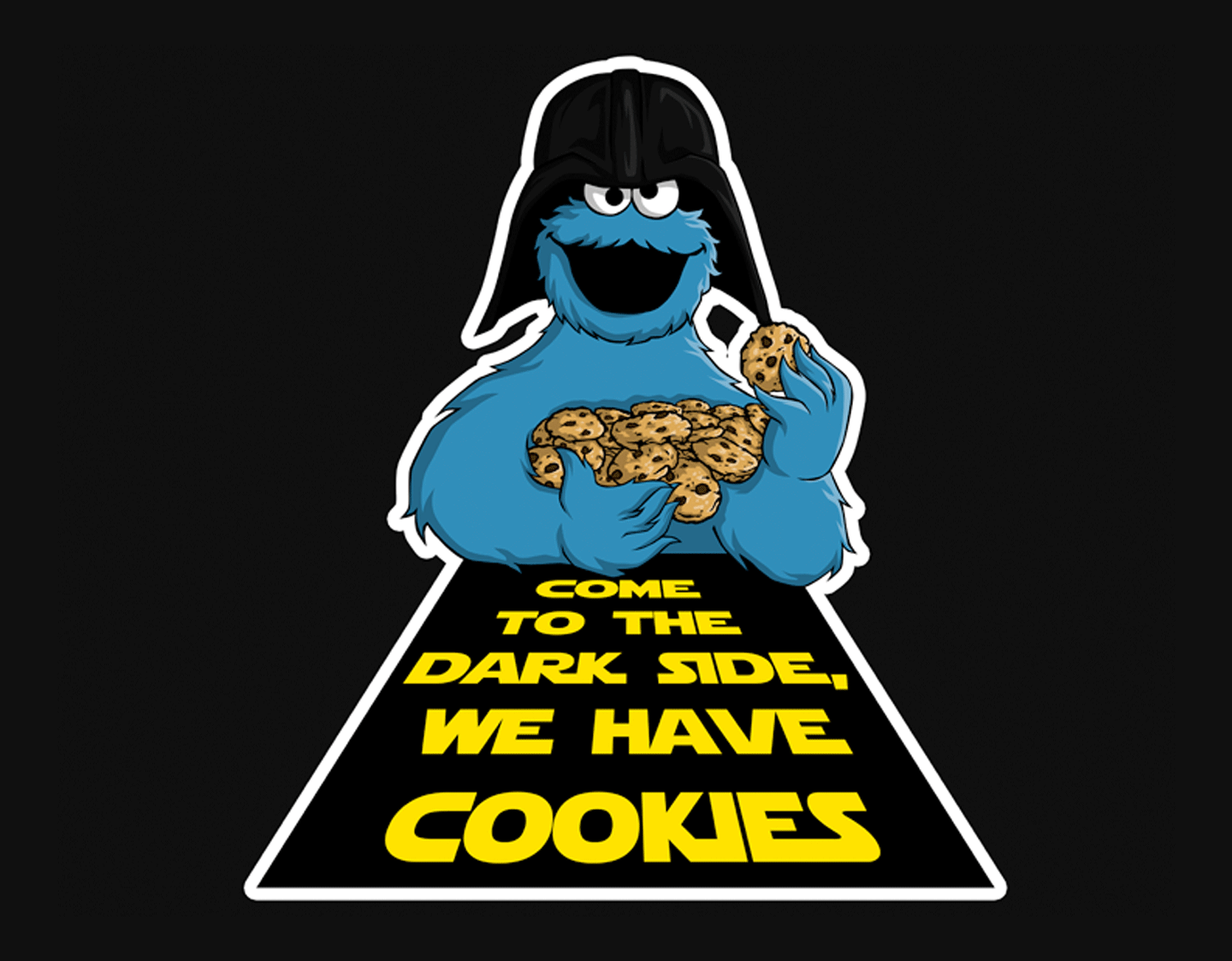 An Epic Cookie Monster Amp Star Wars T Shirt Graphic Tide