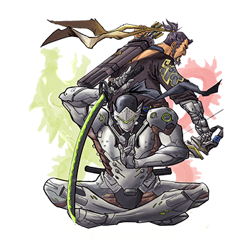 Genji and Hanzo, The Shimada Dragons