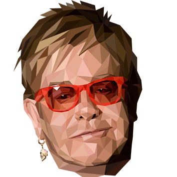 polygon portrait elton john